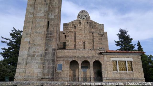 Santuário da Penha visto por outro ângulo, em Guimarães - Portugal.