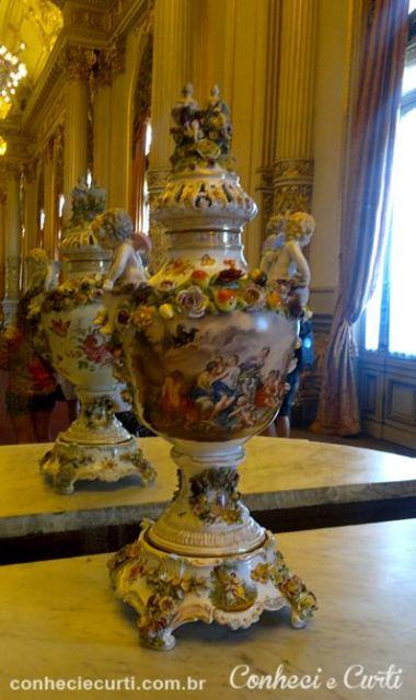 Detalhe da decoração do Salão Dourado. Teatro Colón.
