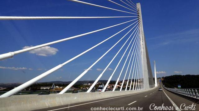A estrada que pegamos com destino a Guarda. Portugal