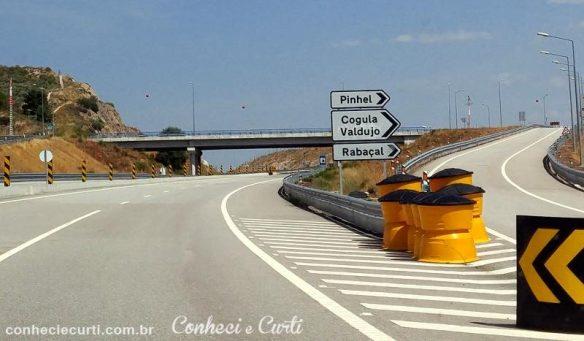 Rodovia IP2 entre Trancoso e Marialva, Portugal