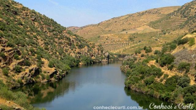 O Rio Côa, próximo de sua foz.
