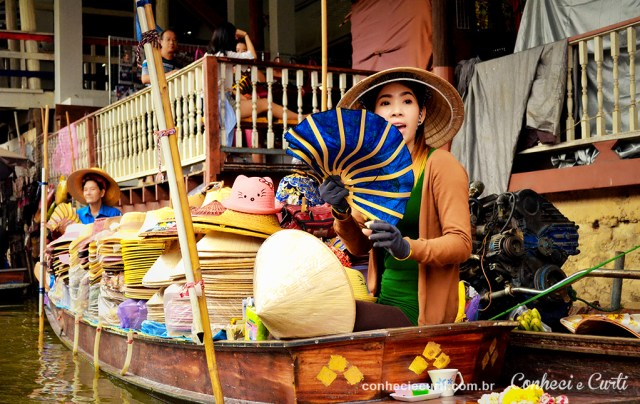 Mercado Damnoen Saduak Tailândia