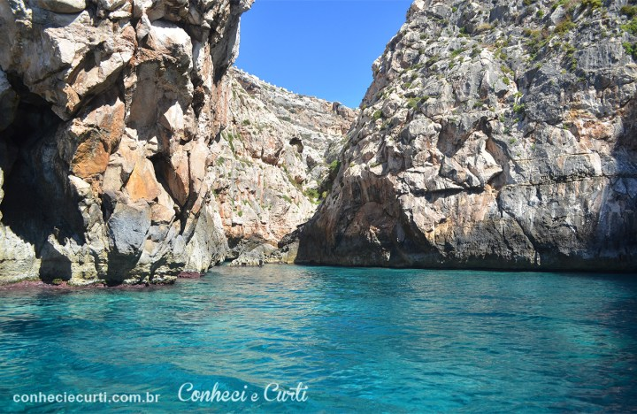 Blue Grotto panorâmica