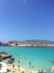 Blue Lagoon em Comino. Malta - Mar Mediterrâneo