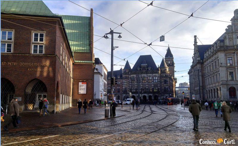 Centro Histórico de Bremen, Alemanha.