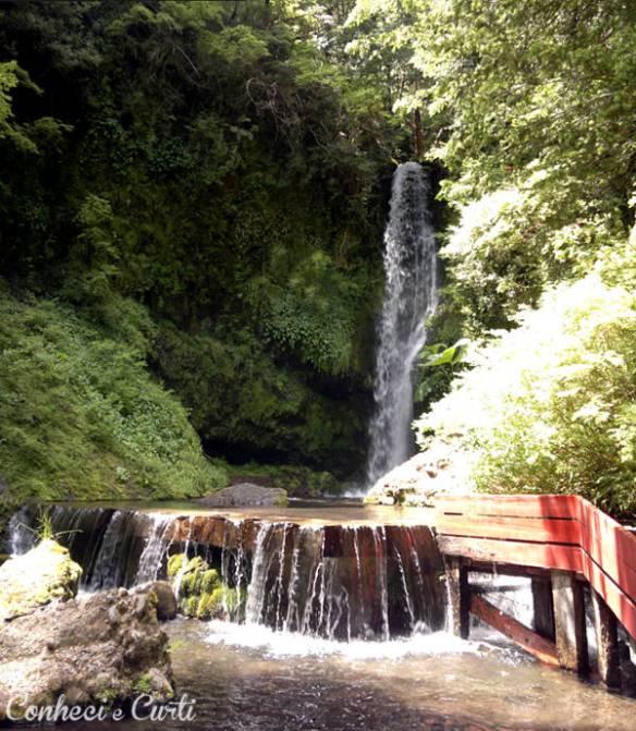 Cachoeira nas Termas Geométricas,região de Pucón - Chile.