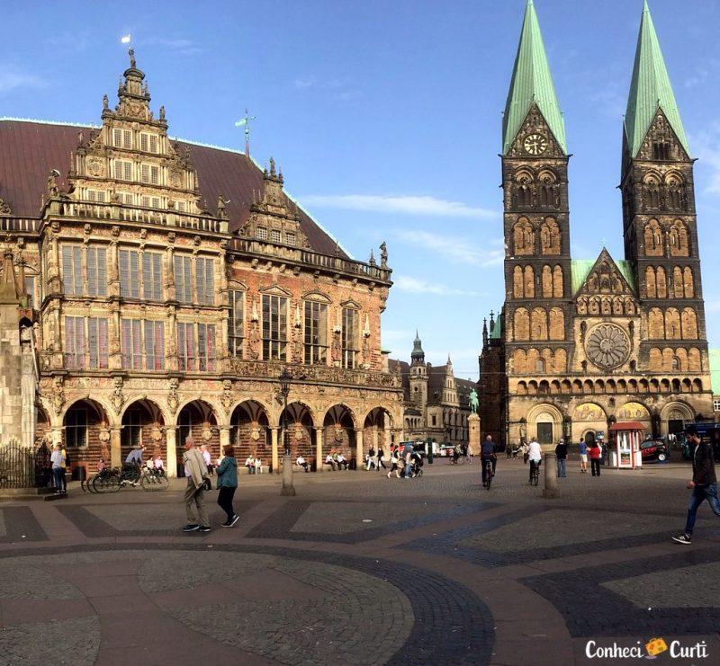 A cidade de Bremen no norte da Alemanha