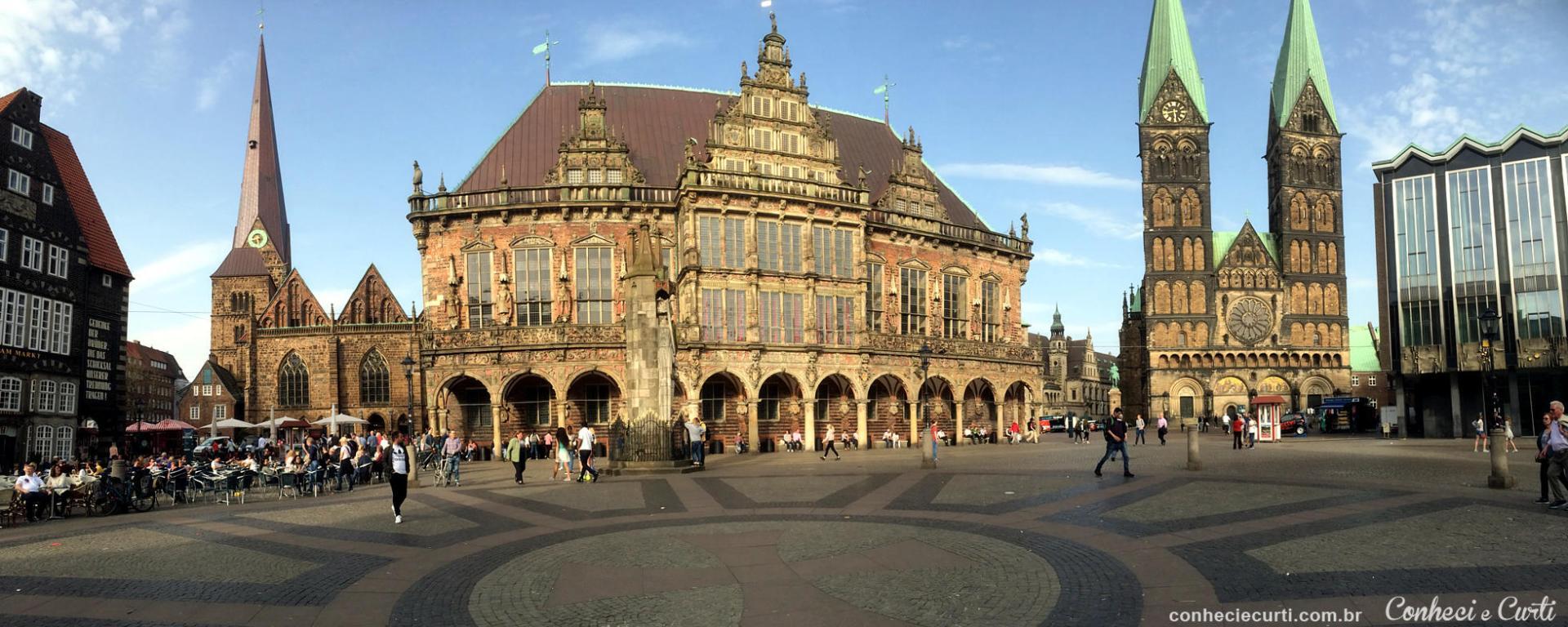 A encantadora cidade de Bremen na Alemanha.
