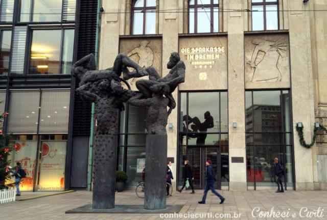 Uma escultura em Bremen, Alemanha