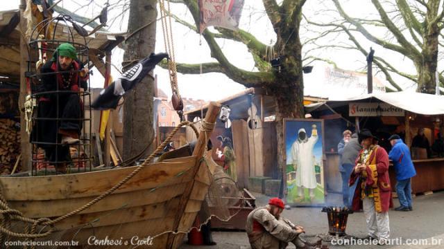 A Feira Medieval e o pirata português :) Bremen, Alemanha.