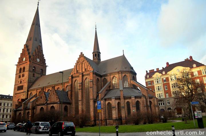 St Petri kyrka , a Igreja de São Pedro em Malmö, Suécia.