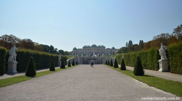 Os jardins de Belvedere.