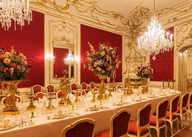 Sala de Jantar. Fonte: Palácio Hofburg