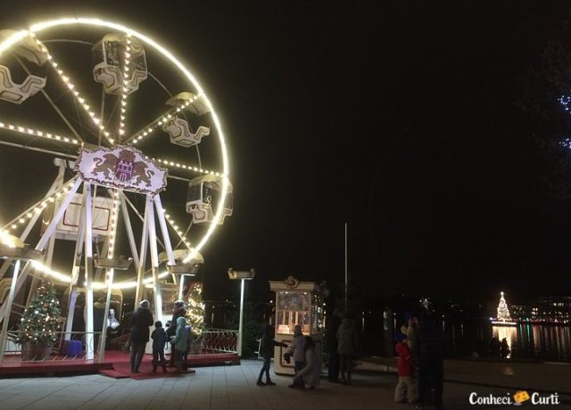 Roda Gigante da feira de Natal de Hamburgo