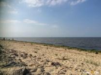 Praia honesta de Cuxhaven.