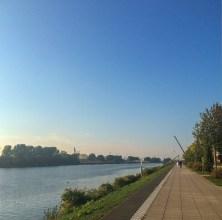 A promenade mais calma de Bremen.