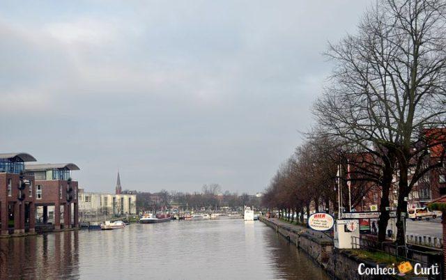 A cidade de Lübeck, Alemanha.