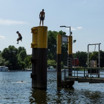 O jeito de se refrescar na Breminale. Foto: kreiszeitung