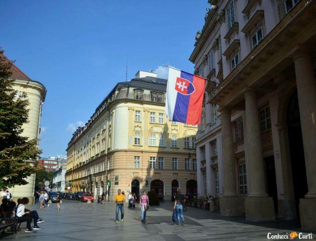 Bratislava, capital da Eslováquia.