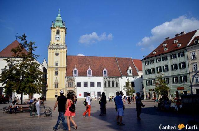 Bratislava, a capital da Eslováquia.