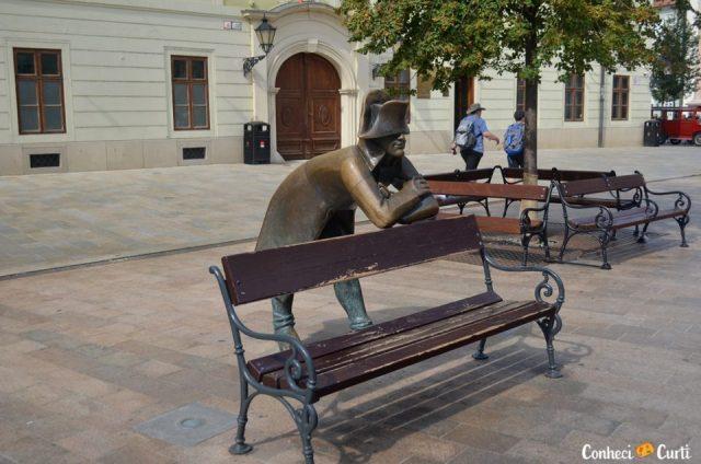 Estátua de Napoleão na praça Hlavné - Bratislava