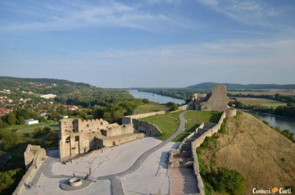 As ruínas do Castelo de Devín