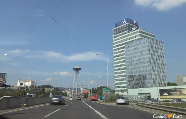 Chegando em Bratislava