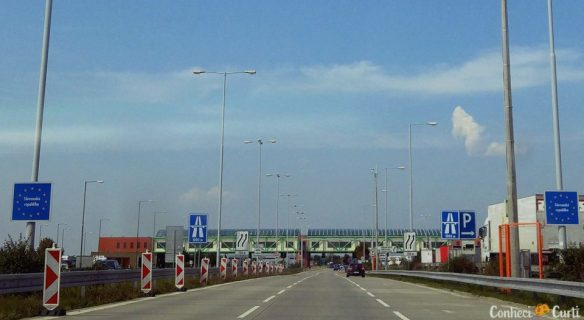 Cruzando a fronteira entre Hungria e Eslováquia