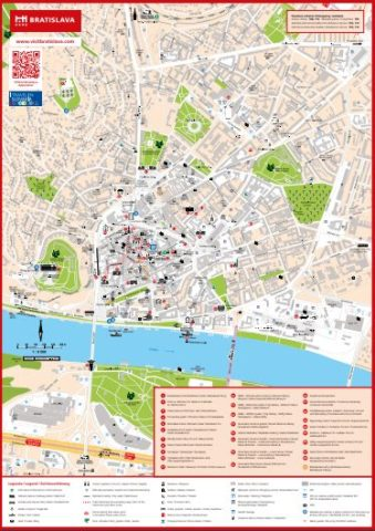 Mapa turístico de Bratislava