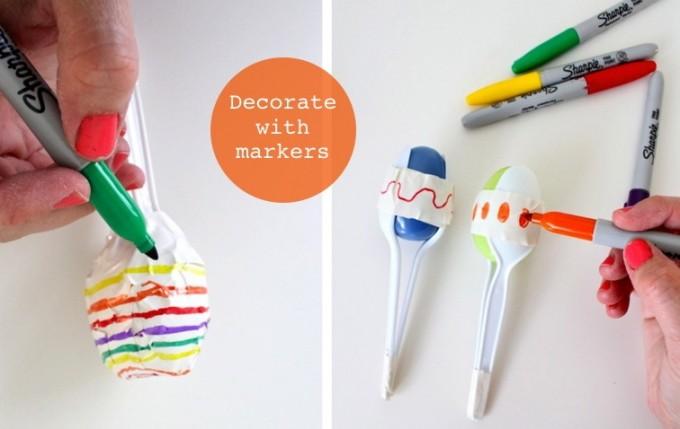 Resultado de imagen para cómo hacer maracas con cucharas  plástico
