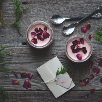 rosewater lemon posset
