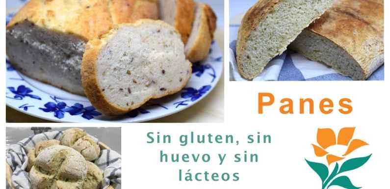 Recetas panes sin gluten, sin huevo y sin lácteos (sin lactosa)