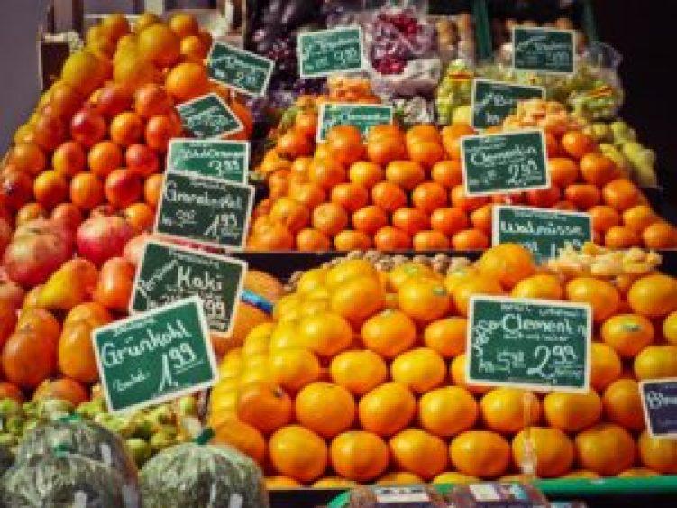 マーケットのオレンジ