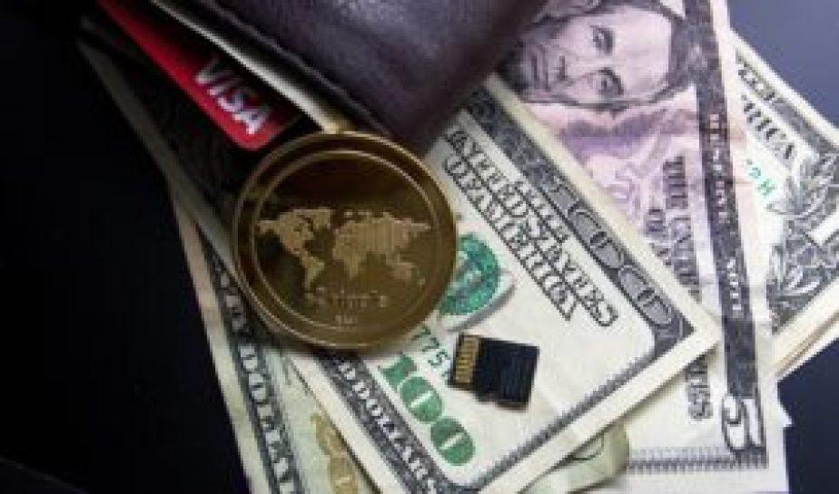 米ドルとコイン