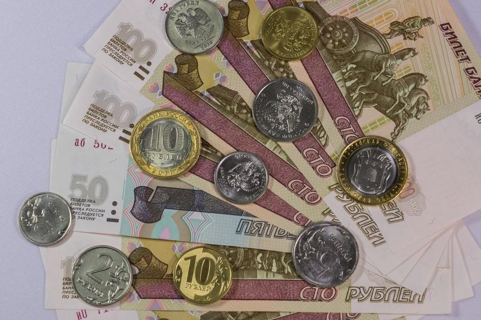 外国通貨の紙幣とコイン