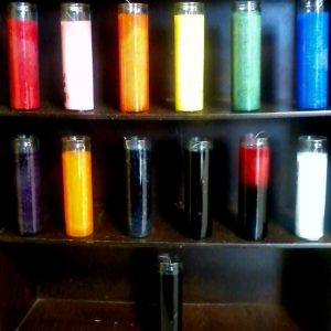 Glass Novena Candles; 7 Day Candle at Conjure Work, spell herbs, oils, powders, tarot readings