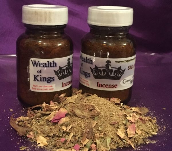 Wealth of Kings Incense, money drawing at Conjure Work, Ceremonial, Hoodoo, Sorcery, witchcraft supply