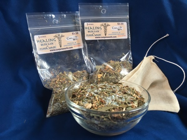 Healing Bath Mix at Conjure Work, sorcery supplies and services by Magus (Kevin Trent Boswell)
