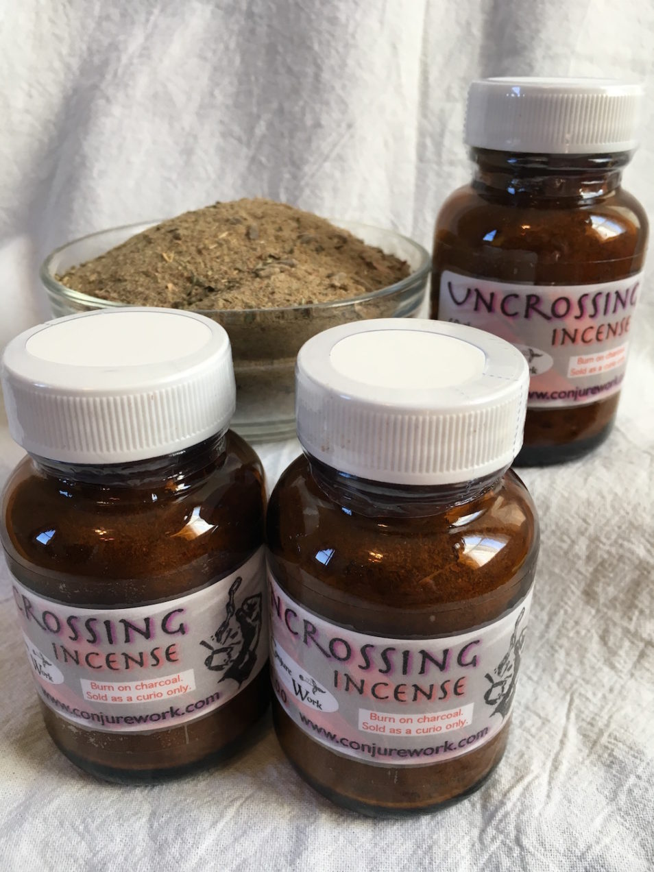 Uncrossing Incense by Magus (Kevin Trent Boswell) in the online Conjure Shop at https://conjurework.com Sorcerous good, services and supplies