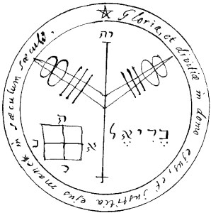 A Solomonic pentacle, The Nascent Magician, by Magus at conjurework.com Kevin Trent Boswell