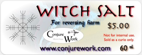 Witch Salt or Black Salt, for reversing harm at Conjure Work