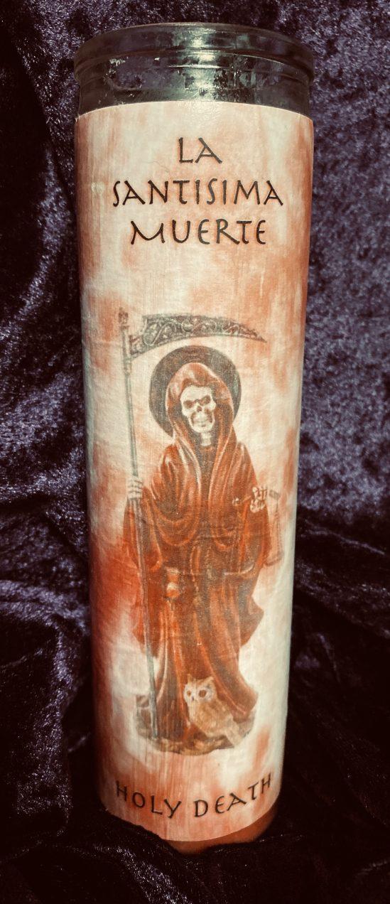 La Santisima Muerte Candle, Red, Santa Muerte, sex, romance