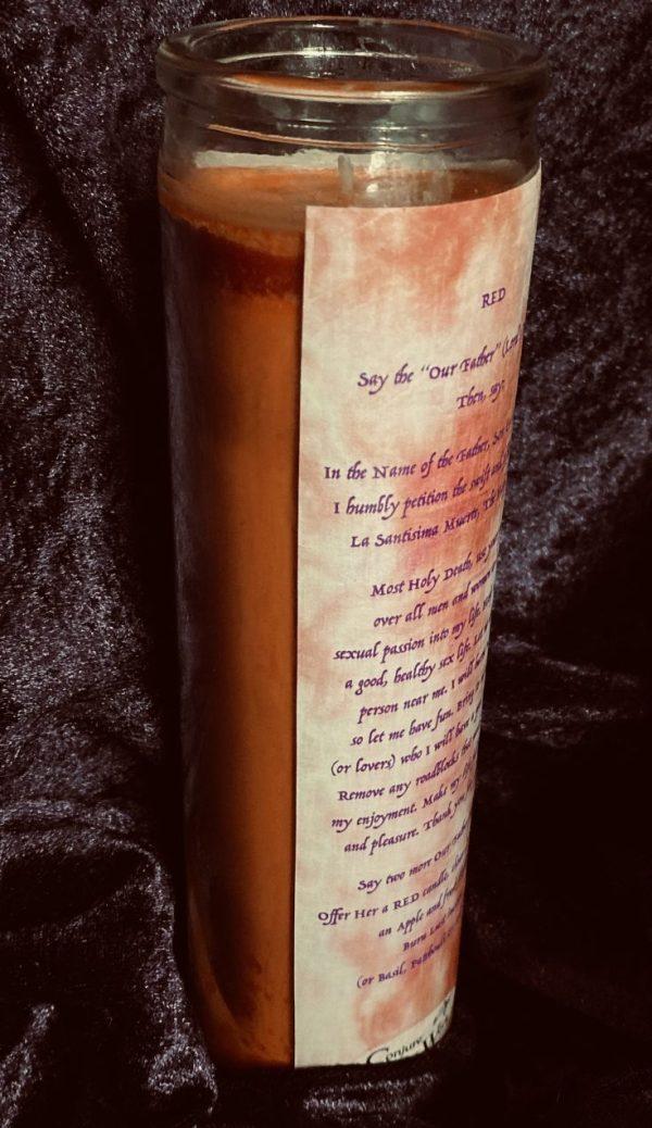La Santisima Muerte Candle, Red, Santa Muerte, Blanca, Hermana
