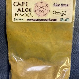 Cape Aloe Powder, Aloe ferox, Luna, Moon, sorcery, Conjure Work, herbs, magick, Golden Dawn, Solomonic, Wicca, astrology