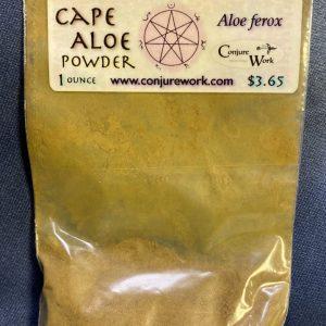 Cape Aloe Powder, Aloe ferox, Luna, Moon, sorcery, Conjure Work, herbs, magick, Golden Dawn, Solomonic, Wicca, astrology