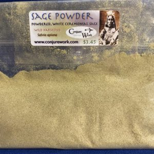 Sage Powder, Salvia apiana, White, Ceremonial, sorcery, Conjure Work, herbs, magick, Golden Dawn, Solomonic, Wicca, astrology