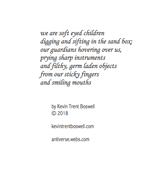 """from """"Liber Ex Liberi"""", The Poetry of Magus (Kevin Trent Boswell), owner of Conjure Work, singer, guitarist of Magus & The Plastic Infinity"""
