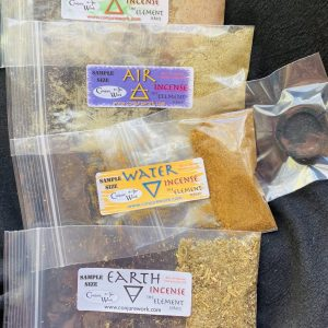 Elemental Incense Sampler pack, Fire, Water, Air, Earth, Conjure Work