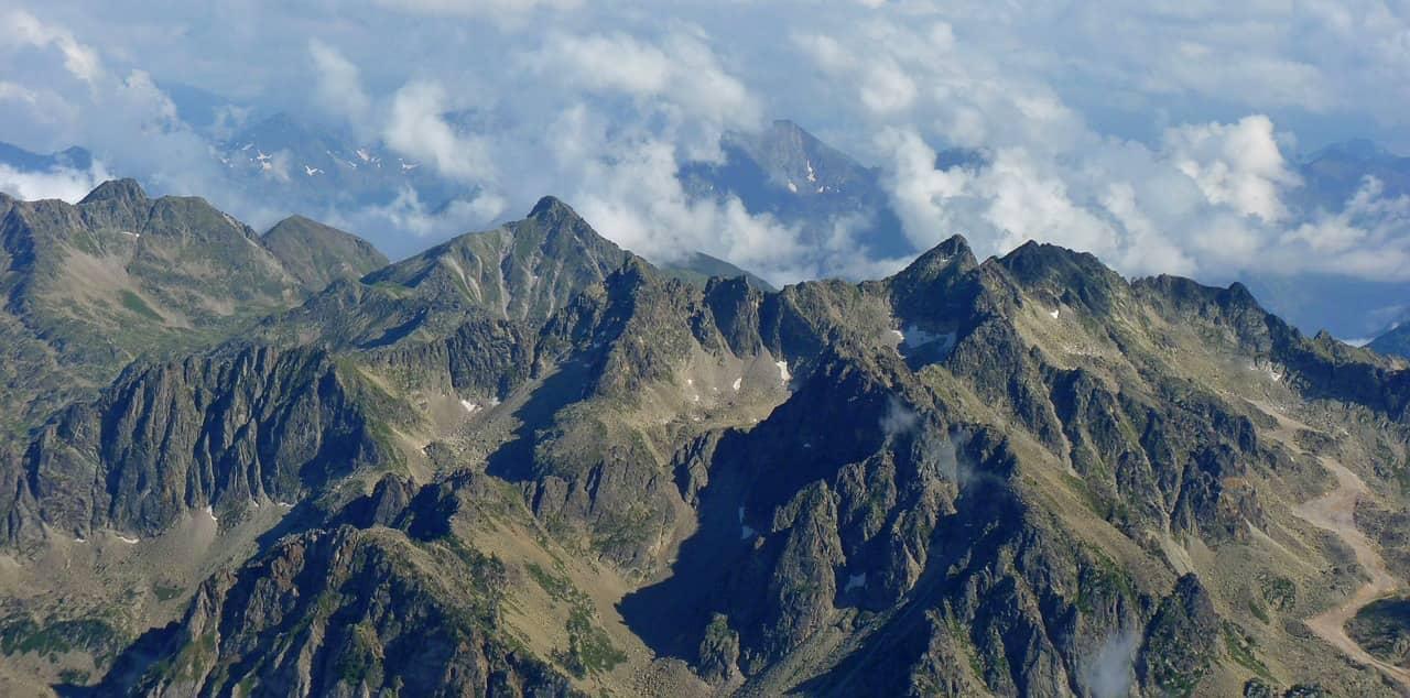 Vista aérea de los Pirineos