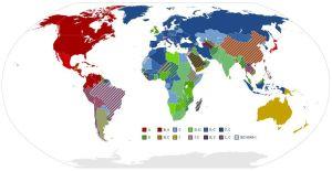 Mapa de enchufes del mundo